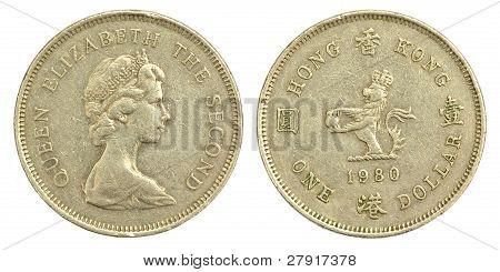 Old One Hong Kong Dollar of 1980
