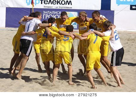 Ukraine Beach Soccer Players