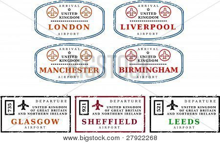 Travel stamps - UK