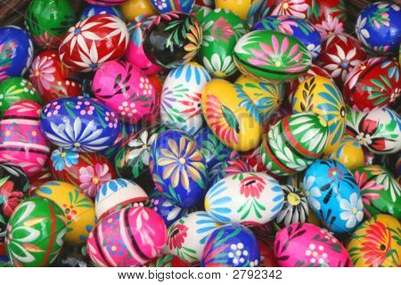 Collection Of Painted Eggs