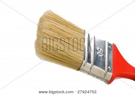Flat Red Paint Brush