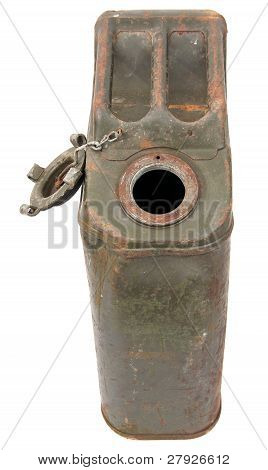 Unclosed Rusty Jerrycan