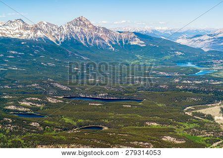 Bird View Of Jasper Lakes