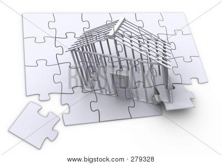 Construção de quebra-cabeça