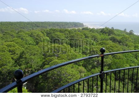 Hunting Island Lighthouse View Of Beach