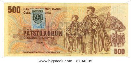 500 Koruna Bill Of Czechoslovakia, 1973