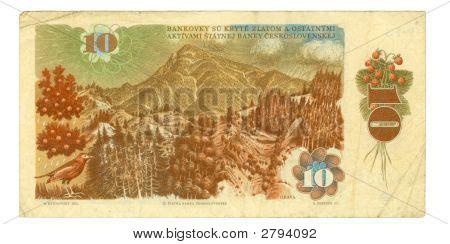 10 Koruna Bill Of Czechoslovakia, 1986