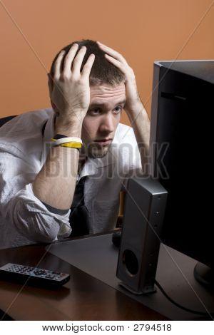 Estresado de hombre de negocios