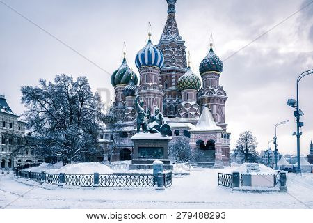 St Basils Cathedral In Cold