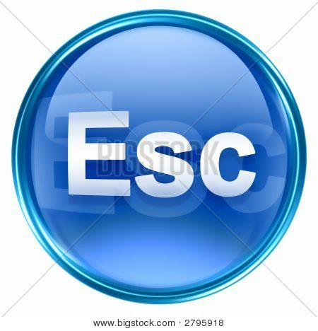 Esc Icon Blue