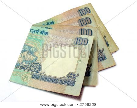 Stacked Indian  Rupees 100 Bank Notes