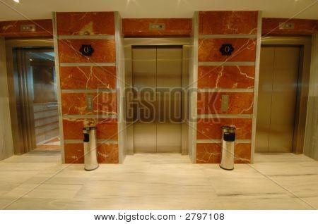 Elevator Doors In Modern Hotel