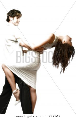 Dancing Teen Couple, Happy And Fun
