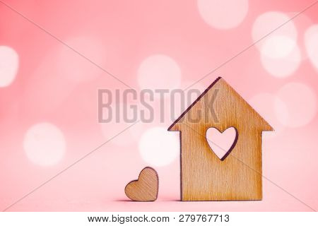 Wooden House With Hole In
