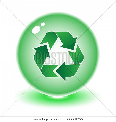 Vector recycle symbol illustration. Simply change. Other ecological vectors you can see in my portfolio.