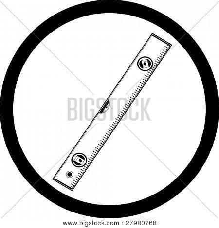 vector icon of spirit level