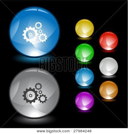 Gears. Vector interface element.