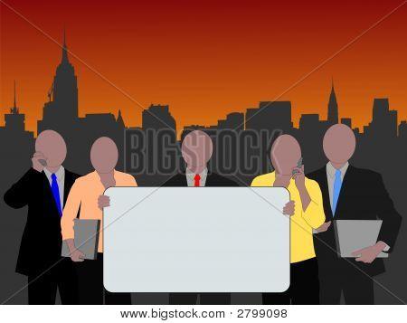 Equipe de negócios de Manhattan
