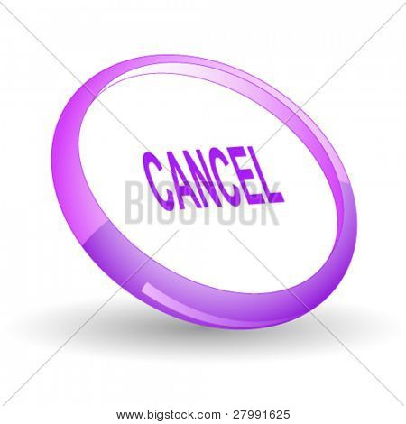 Cancel. Vector icon.