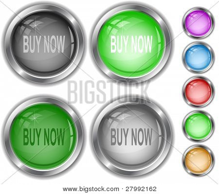 Buy now. Vector internet buttons.