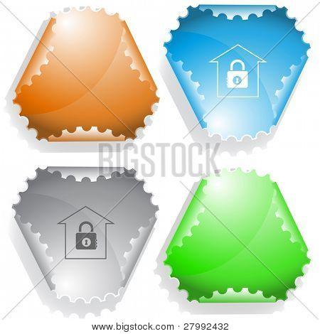Bank. Vector sticker.