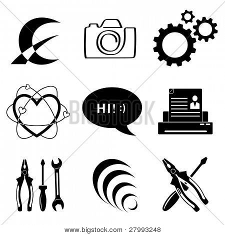Vector icons of tool