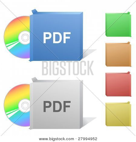 Pdf. Box with compact disc.