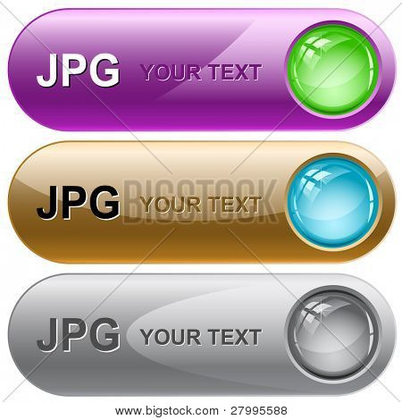 Jpg. Vector internet buttons.