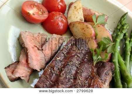 Steak And Vegetables