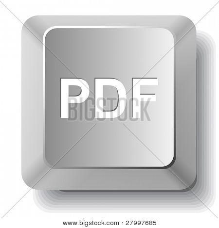 Pdf. Vector computer key.
