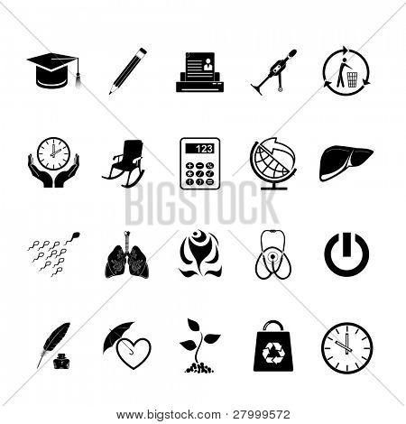 Conjunto de vectores de iconos