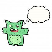 foto of gremlins  - cartoon gremlin with thought bubble - JPG