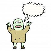 picture of ogre  - cartoon ogre shouting - JPG