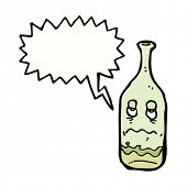 hangover wine bottle cartoon