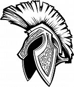 foto of spartan  - Vector Graphic of a Greek Spartan or Trojan Helmet - JPG