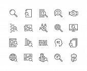 Simple Set Of Search Related Vector Line Icons. Contains Such Icons As Reverse Indexation, Search Bo poster