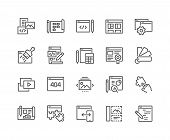 Simple Set Of Web Development Related Vector Line Icons. Contains Such Icons As Content, Image Galle poster