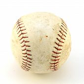 An Isolated Shot Of A Softball Used In Team Sports. poster