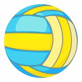 Ball For Volleyball Icon. Cartoon Illustration Of Ball For Volleyball Icon For Web poster