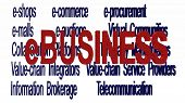 image of ebusiness  - 3d texts illustrating terminologies related to 	ebusiness models - JPG