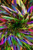 Hallucinogen Fluorescent Background From Plants Of Surreal Colors . Abstract Illusion On Drink And D poster