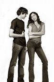 Loving Teen Couple, Happy And Fun poster