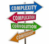 Complexity Complications Arrow Signs 3d Illustration poster
