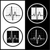 stock photo of medical chart  - Vector cardiogram icons - JPG