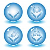 Vector medical icons. Blue set. Simply change. Other medical icons you can see in my portfolio.