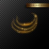 Sparkle Stardust. Golden Glittering Magic Vector Isolated On Black Transparent Background. Glitter B poster