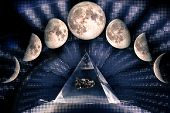 Phases Of The Moon: Waxing Crescent, First Quarter, Waxing Gibbous, Full Moon, Waning Gibbous, Third poster