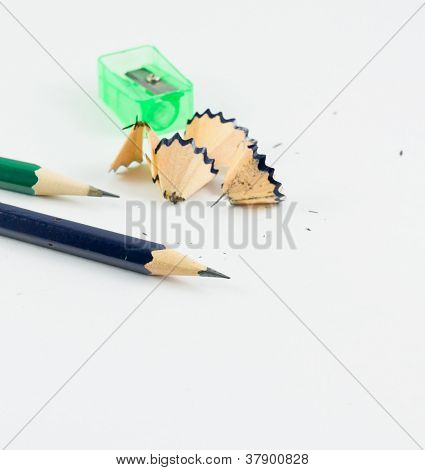 Sharpened Pencils Isolated On The White Background