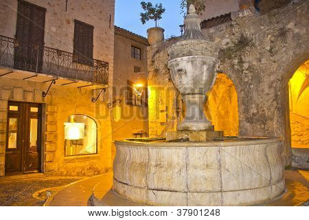 Night View Of Saint Paul De Vence, France