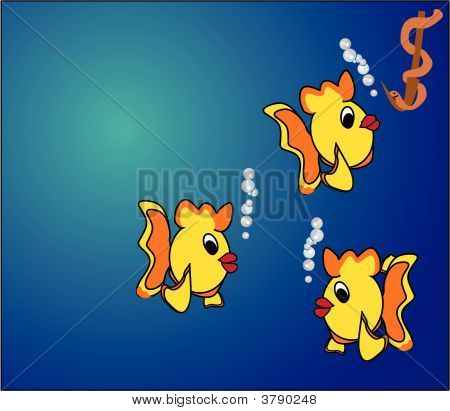 3 Fish Tempted By Bait